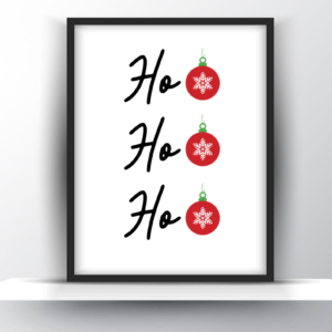 Ho Ho Ho Printable Wall Art