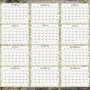 Floral Printable Calendar 2020