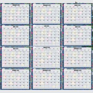 Floral Beautiful Printable Calendar 2020