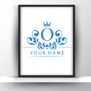 Custom Monogram Letter with Name for Him – Printable