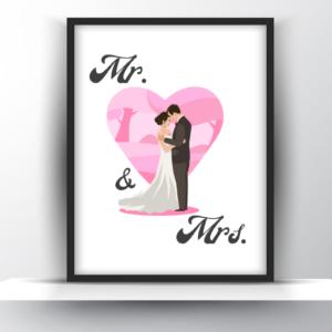 Mr & Mrs Printable Wall Art