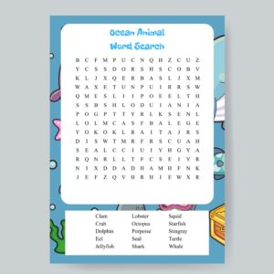 Ocean Animal Word Search