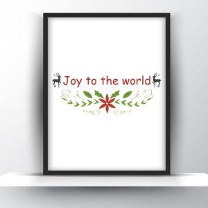 Joy to the world printable wall art