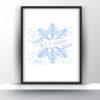 Let it snow printable wall art
