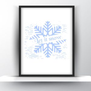 Let it Snow Printable Wall Art