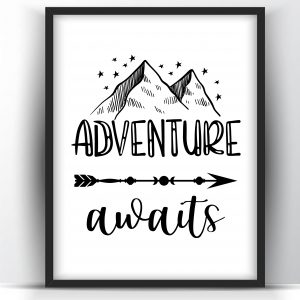 Adventure Awaits Printable Wall Art