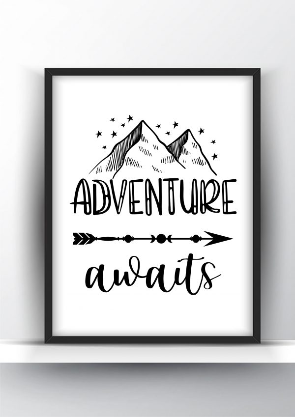 Adventure Awaits Printable Wall Art