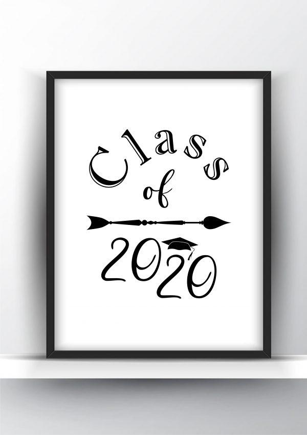 Class of 2020 Printable Wall Art