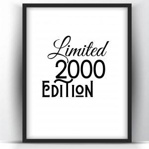 Limited 2000 Edition – Printable Wall Art