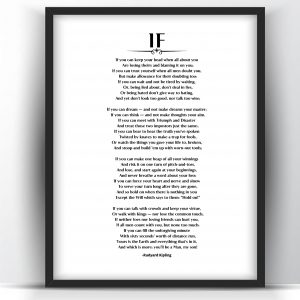 If by Rudyard Kipling Printable and Poster