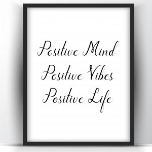 Positive Mind Positive Vibes Positive Life Motivational Printable and Poster