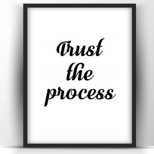 Trust the Process Motivational Printable and Poster