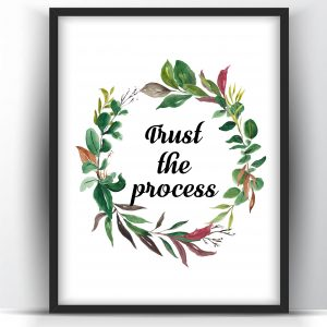 Trust the Process Floral Printable Wall Art