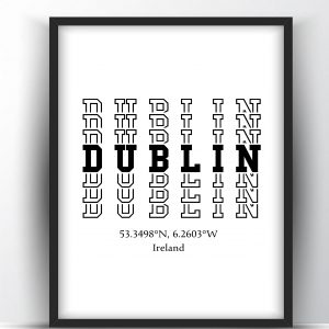 Dublin Typography Printable Wall Art and Poster