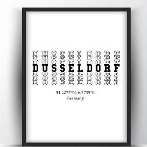 Dusseldorf Typography City Map Print