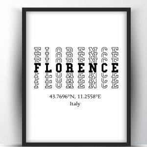 Florence Typography Printable Wall Art and Poster