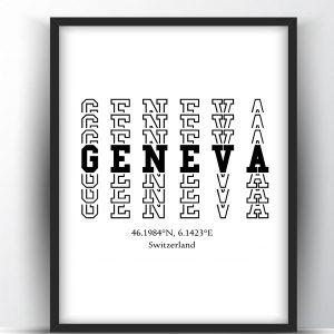 Geneva Typography Printable Wall Art and Poster