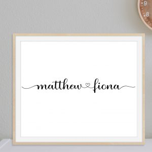 Custom Gift for Couples Printable Wall Art and Poster