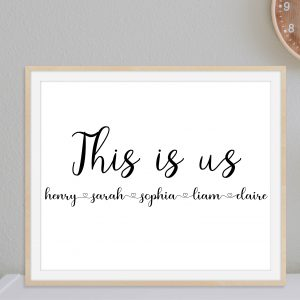 This is Us Personalized Family Printable Wall Art and Poster