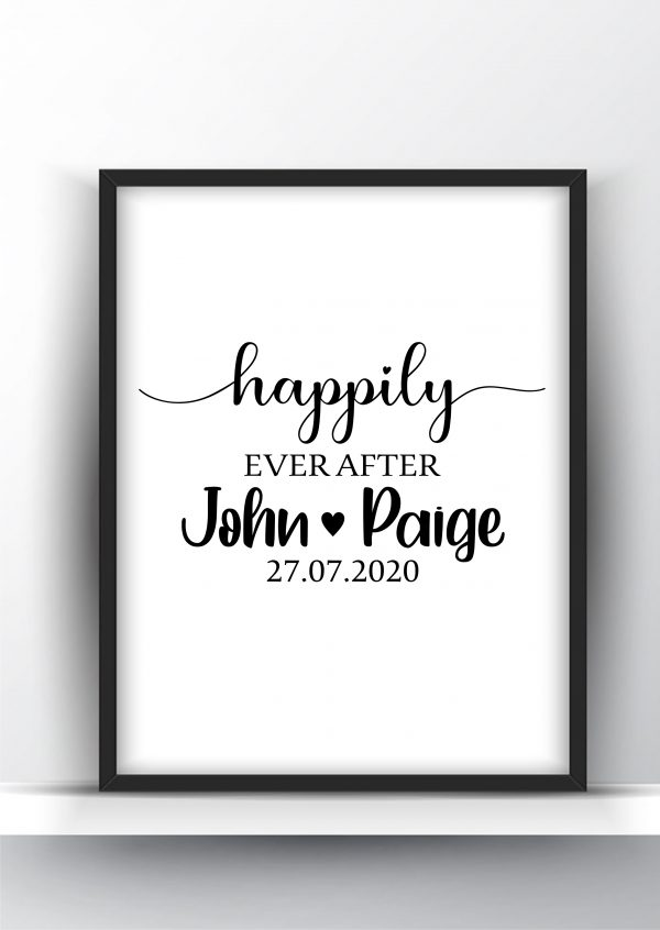 Happily Ever After Custom Printable Wall Art