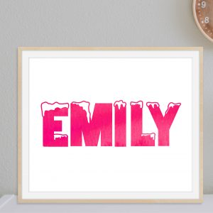 Personalized Name Christmas Themed Printable Wall Art