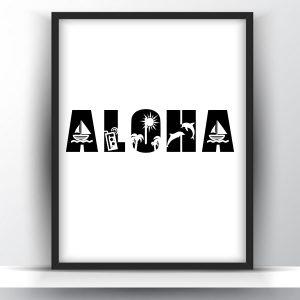 Aloha Summer Printable Wall Art