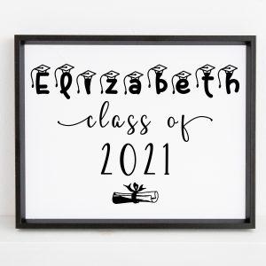 Personalized Name Graduation Printable