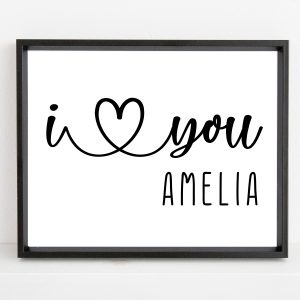 Personalized I Love You Name Printable For Men And Women