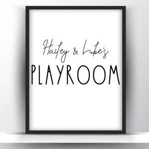 Personalized Kids Name Playroom Sign Printable