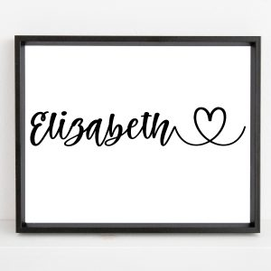 Personalized Name Heart Printable