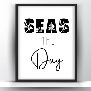 Seas The Day Funny Summer Printable Wall Art